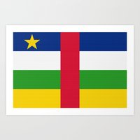 Central African Republic Flag (Canvas Look) Art Print