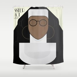 Sister Act, minimal Movie Poster, classic comedy film, funny, Whoopi Golberg, american cinema Shower Curtain