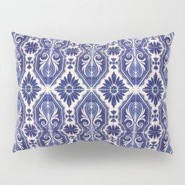 Portuguese Tiles Azulejos Blue White Pattern Pillow Sham