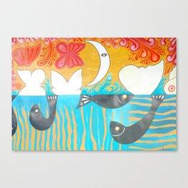 Moon influece Canvas Print