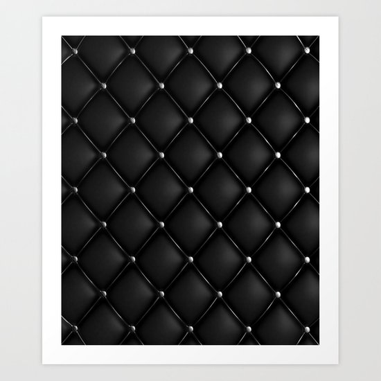 Black Quilted Leather by seafoam12