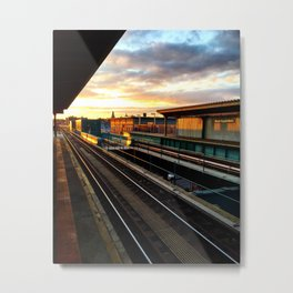 85th Street & Forest Parkway Sunset Metal Print