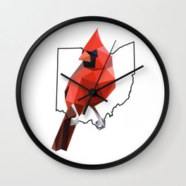 Ohio – Northern Cardinal Wall Clock