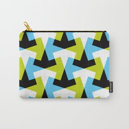 Geometric Pattern #61 (green blue black) Carry-All Pouch