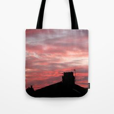 Winter sunset over London Tote Bag