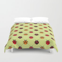 Lady Bug Yellow Duvet Cover