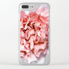 PINK FLOWER - GENTLE CARNATION Clear iPhone Case