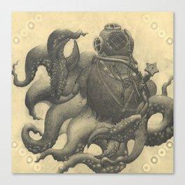 Scuba Diver with Crab Hands Canvas Print