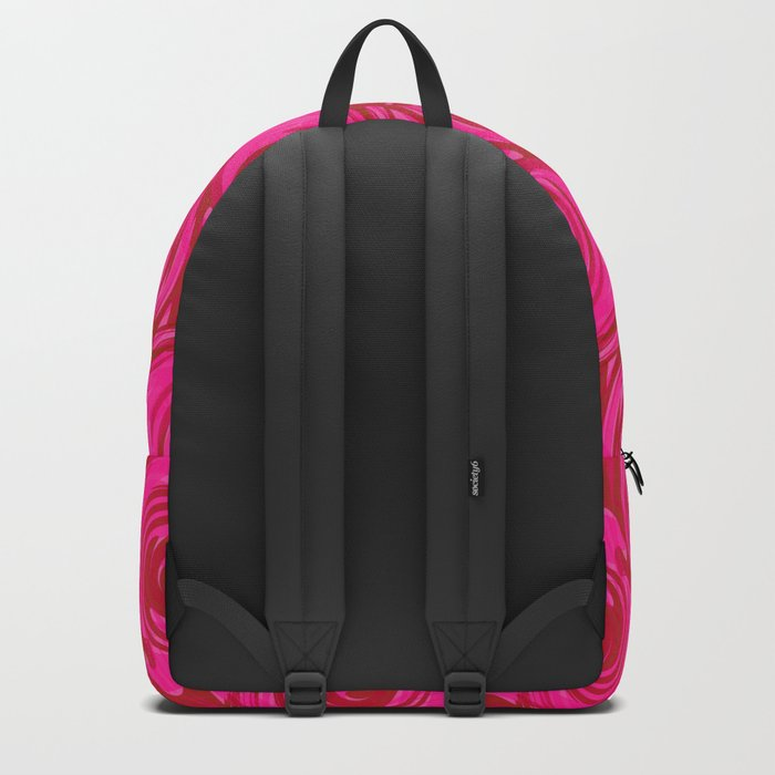 Abstract pattern in bright crimson tone. crimson . Backpack