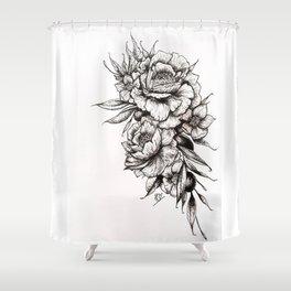 Floral Bouquet & Grapes Shower Curtain