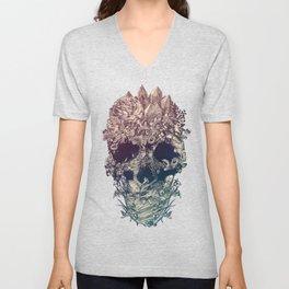 Skull Floral Unisex V-Neck