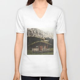 Sheep on the roof Unisex V-Neck