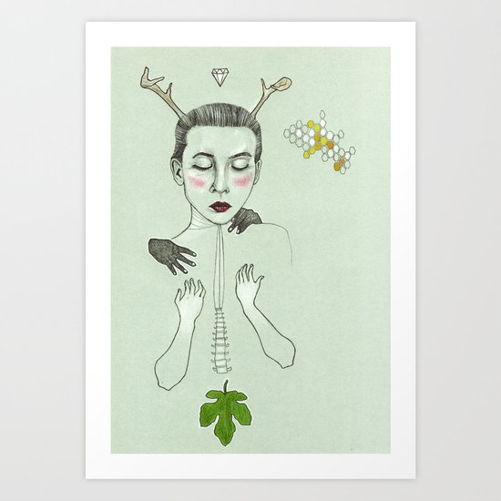 kış (winter) Art Print