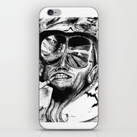 fear and loathing iPhone & iPod Skins featuring Fear and Loathing by Tufty Cookie
