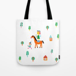 Colorful Cheerful Forest Tote Bag