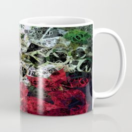 Mixed color Poinsettias 1 Letters 4 Coffee Mug