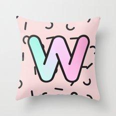 Wacky W Throw Pillow