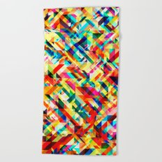 Summertime Geometric Beach Towel