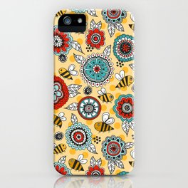 Bees & Blooms iPhone Case