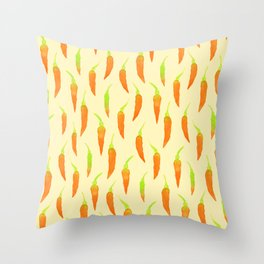 Shades of Chilies Throw Pillow