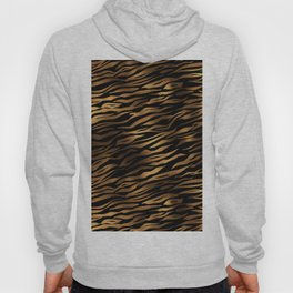 Gold and black metal tiger skin Hoody