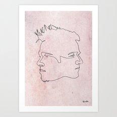 One line Fight Club Art Print