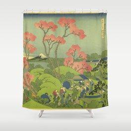 Japanese Print Shower Curtain
