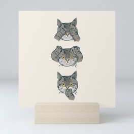No Evil Cat Mini Art Print
