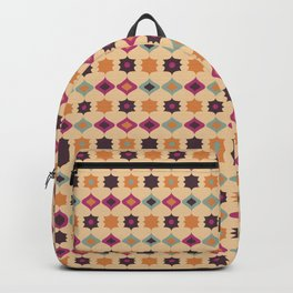 Seamless retro pattern geometrical vector texture background Backpack