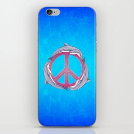 Dolphin Peace Pink iPhone Skin