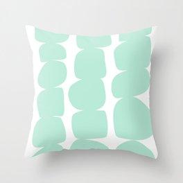 Aqua Stones Throw Pillow