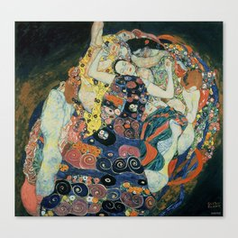 Klimt -The Maiden Canvas Print