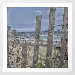 Beach Front View  Art Print