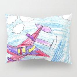 Airplane in Flight Pillow Sham