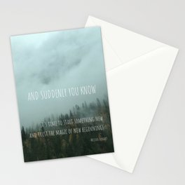 Magic of New Beginnings Stationery Cards
