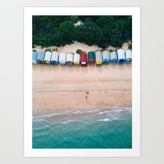 Brighton Bathing Boxes by yantastic