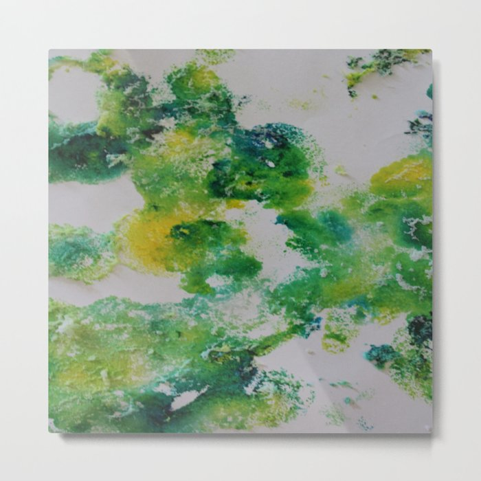 Its about space - in greens and yellows Metal Print