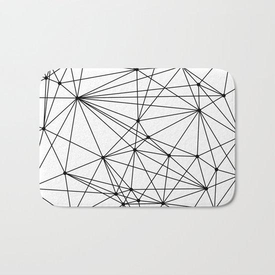 Black & White Geometric Web Bath Mat