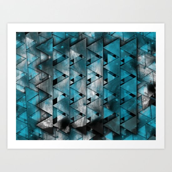 TriangleTracts Full Bleed... Art Print