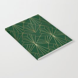Art Deco in Gold & Green Notebook