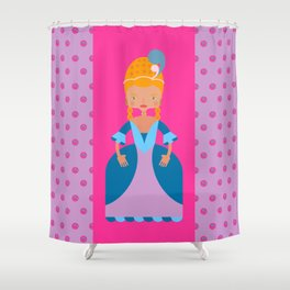 French Romantic Queen Shower Curtain