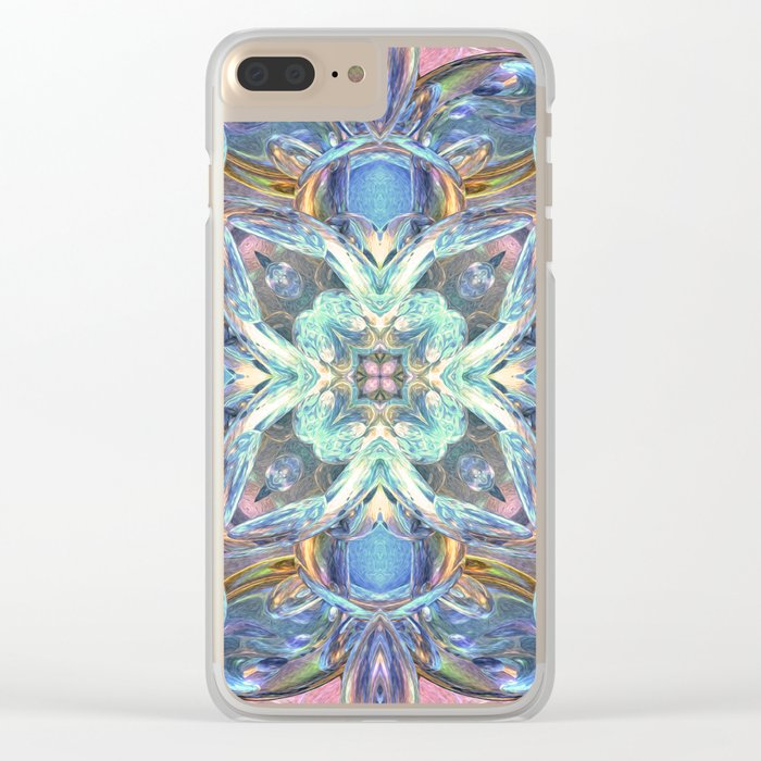 Colorful Kaleidoscope Reflections Clear iPhone Case