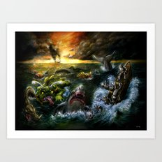 Plight of the Seabots Art Print