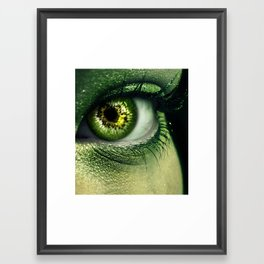 Kiwi Eye Framed Art Print