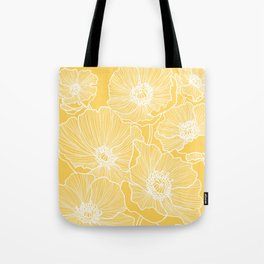 Sunshine Yellow Poppies Tote Bag