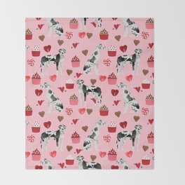 Great Dane valentines day dog person must have gifts to say i ruff you Throw Blanket