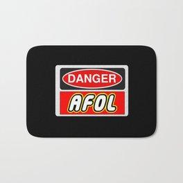 Danger AFOL Adult Fan of LEGO by Chillee Wilson Bath Mat