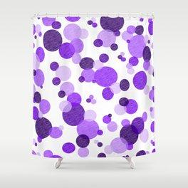 Purple Polka Shower Curtain