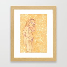 Food-Baby Framed Art Print