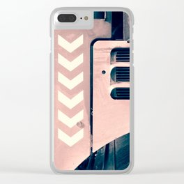 Road Roller Chevron - Industrial Abstract (everyday 17.01.2017) Clear iPhone Case